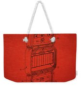 Head To Head Football Classic Electronic Toy Weekender Tote Bag by Edward Fielding