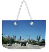 Heading North On Lake Shore Drive In Chicago Weekender Tote Bag