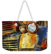 Headlight On A Retired Relic Abstract Weekender Tote Bag