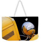 Headlight Reflections In A 32 Ford Deuce Coupe Weekender Tote Bag