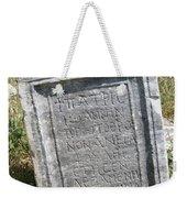 Headstone In The Basilica Church Aphrodisias Weekender Tote Bag