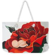 Healing Painting Baby Sleeping In A Rose Weekender Tote Bag