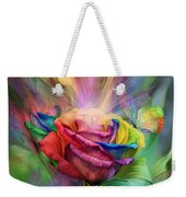 Healing Rose Weekender Tote Bag by Carol Cavalaris