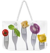 Healthy Balanced Food On White Weekender Tote Bag