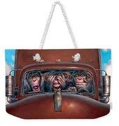 Hear No Evil See No Evil Speak No Evil Weekender Tote Bag by Mark Fredrickson