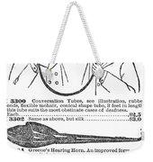 Hearing Aid, 1900 Weekender Tote Bag