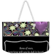Heart And Love Design 14 With Bible Quote Weekender Tote Bag