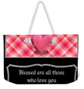 Heart And Love Design 15 With Bible Quote Weekender Tote Bag