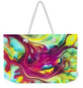 Heart Attack Watercolor Abstraction Painting Weekender Tote Bag