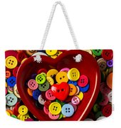 Heart Bowl With Buttons Weekender Tote Bag