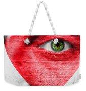 Heart Face Weekender Tote Bag