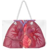 Heart Illustration, With Pulmonary Veins Weekender Tote Bag
