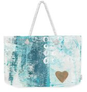 Heart In The Sand- Abstract Art Weekender Tote Bag