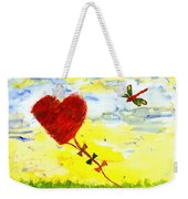 Heart Kite Weekender Tote Bag