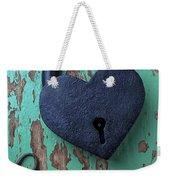 Heart Lock And Key Weekender Tote Bag