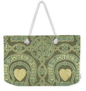 Heart Motif Ecclesiastical Wallpaper Weekender Tote Bag