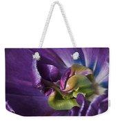 Heart Of A Purple Tulip Weekender Tote Bag