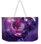 Heart Of A Rose - Burgundy Purple Weekender Tote Bag