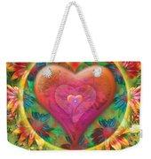 Heart Of Flowers Weekender Tote Bag