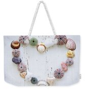 Heart Of Seashells And Rocks Weekender Tote Bag