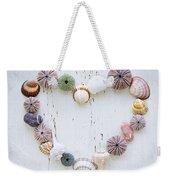 Heart Of Seashells And Rocks Weekender Tote Bag by Elena Elisseeva