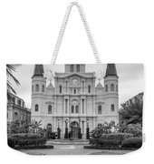 Heart Of The French Quarter Monochrome Weekender Tote Bag