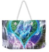 Heart Of Waterfalls Weekender Tote Bag