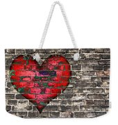 Heart On The Old Wall Weekender Tote Bag