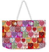 Heart Patches Weekender Tote Bag