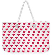 Heart Patterns Weekender Tote Bag