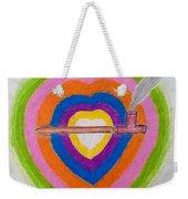 Heart Pipe Weekender Tote Bag