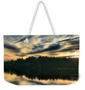 Heart Pond Sunset Weekender Tote Bag
