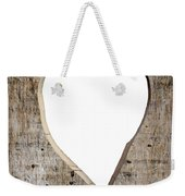 Heart Shape Carved Into A Plank Weekender Tote Bag