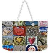 Heart Shape Collage  Weekender Tote Bag