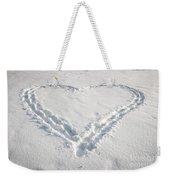 Heart Shape In Snow Weekender Tote Bag