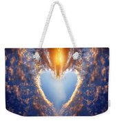 Heart Shape On Sunset Sky Weekender Tote Bag