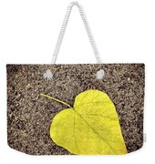 Heart Shaped Leaf On Pavement Weekender Tote Bag