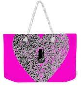 Heart Shaped Lock - Pink Weekender Tote Bag