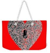 Heart Shaped Lock - Red Weekender Tote Bag