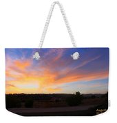 Heart Sunset Weekender Tote Bag by Augusta Stylianou
