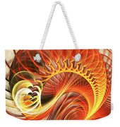 Heart Wave Weekender Tote Bag