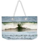 Heart Wave Seaside Nj Jersey Girl Quote Weekender Tote Bag