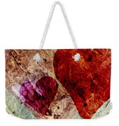 Hearts 10 Square Weekender Tote Bag
