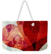 Hearts 5 Square Weekender Tote Bag
