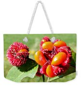 Hearts-a-bursting Seed Pods Weekender Tote Bag by Duane McCullough
