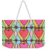 Hearts A'la Stained Glass Weekender Tote Bag