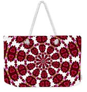 Hearts And Orchids Kaleidoscope Weekender Tote Bag