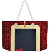 Hearts In Slate Weekender Tote Bag