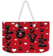 Hearts Of Love Weekender Tote Bag