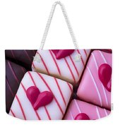 Hearts On Candy Weekender Tote Bag